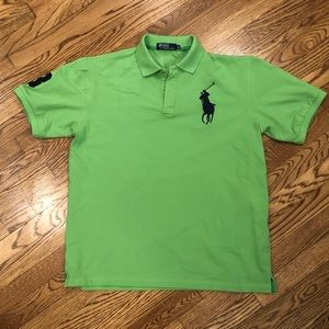 Polo Ralph Lauren Mens Polo Shirt Green XXL